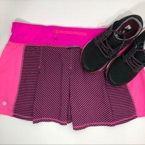 Lululemon fast car pink striped skirt size 8? (G12